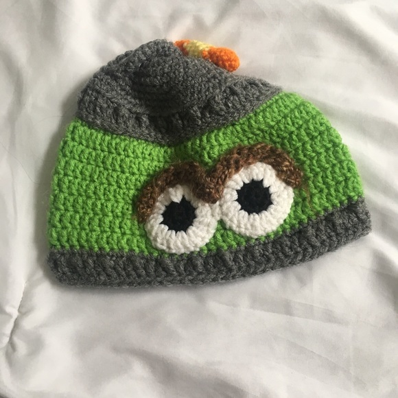 Oscar The Grouch Knit Hat For Babies Toddler